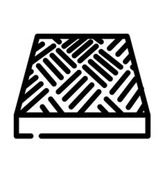 Anti-slip flooring line icon vector