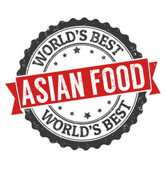 asian food grunge rubber stamp vector image