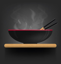 asian soup plate on desk vector image