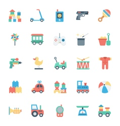 Baand kids colored icons 4 vector