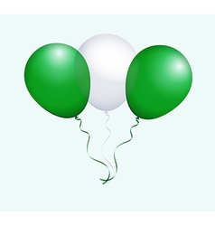Balloons in as Nigeria National Flag vector