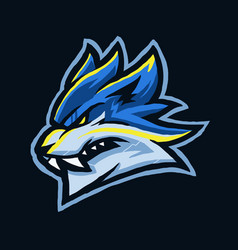 blue wolf e sport head vector image
