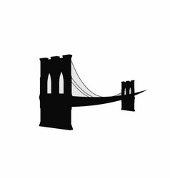 brooklyn bridge silhouette black brooklyn bridge vector image