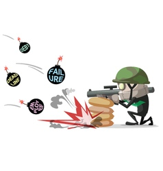 Businessman war vector