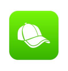 cap icon green vector image