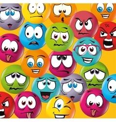Cartoon emoticon graphic vector