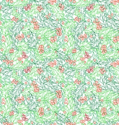 Christmas ilex seamless pattern vector