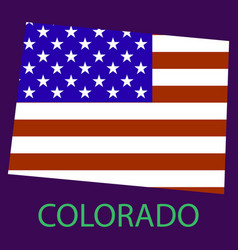 Colorado state of america with map flag print on vector