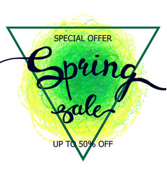 colorful crayon scribble poster spring sale vector image