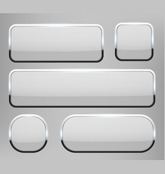 creative of white 3d glass vector image