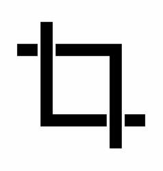 Crop icon vector