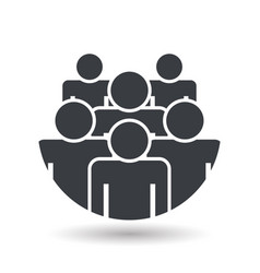 crowd of people - icon silhouettes flat design vector image