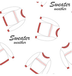 cute seamless pattern with sweaters vector image