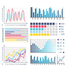 data visual representation of business results vector image