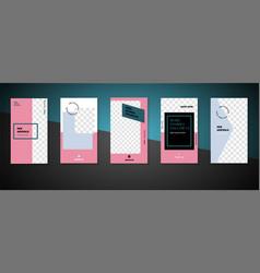 Editable social media stories for phone vector