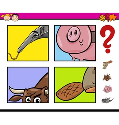 Educational task with animals vector