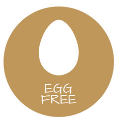 egg free label food intolerance symbols vector image