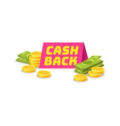 Emblem cash back symbol saving cashback vector