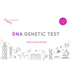 Ethnicity and genealogy dna genetic test vector