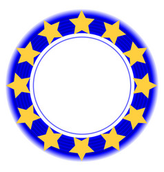 european union symbol in a blue ring vector image