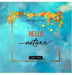 fall banner vector image