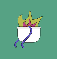 Flat icon design collection military cauldron pot vector