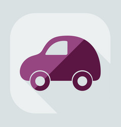 Flat modern design with shadow icon car vector