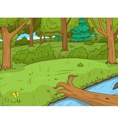 Forest cartoon educational game llustration vector