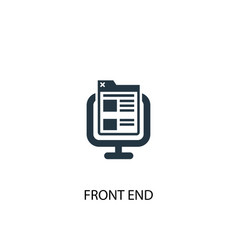 Front end icon simple element front vector