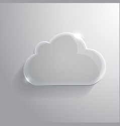 Glossy cloud vector image