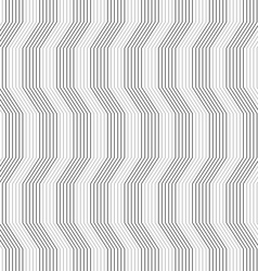 Gray ornament with warping stripes slim vector