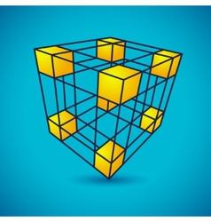 Grid cube vector