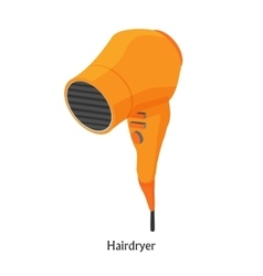 Hair dryers in a beauty salon isometric vector image