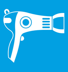hairdryer icon white vector image
