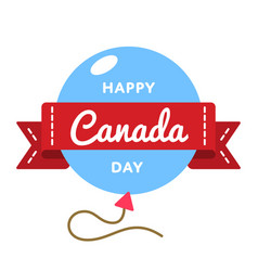 Happy canada day greeting emblem vector