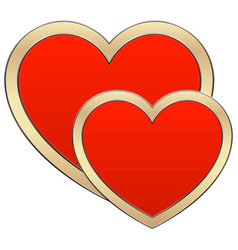 heart composition vector image