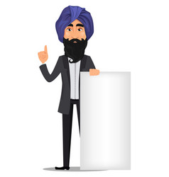 indian business man cartoon character vector image