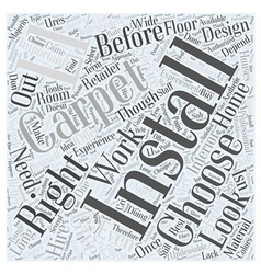 Installing Carpet Word Cloud Concept vector