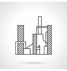Juice factory line icon vector image