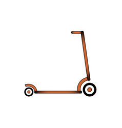kick scooter icon vector image