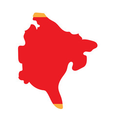 Map and flag montenegro vector