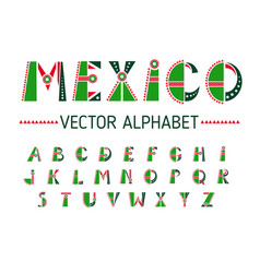 mexico alphabet set vector image
