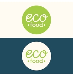 Modern minimalistic logo of food vector image