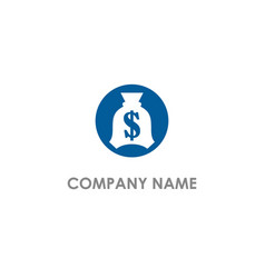Money bag dollar logo vector