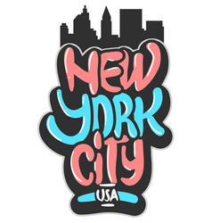 New york city usa graffiti influenced label sign vector