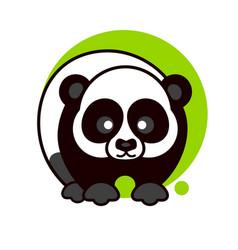 panda icon for graphic design vector image