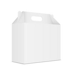 Paper carton box with handle vector