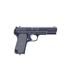 Pistol old soviet world war 2 handgun isolated vector