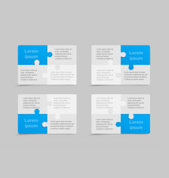 puzzle set business cards flyers brochures vector image