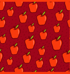 red apple seamless background vector image